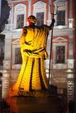 利沃夫州乌克兰- 2011年11月23日:海王星雕塑在集市广场的 库存照片