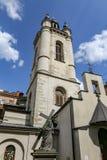 利沃夫州,乌克兰亚美尼亚大教堂钟楼  免版税库存图片
