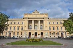 利沃夫州,乌克兰, 2013年9月, 15日 利沃夫州国立大学大厦以伊冯命名的Franko 它在1877-1881被修造了 库存图片