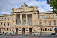 利沃夫州,乌克兰, 2013年9月, 15日 利沃夫州国立大学大厦以伊冯命名的Franko 它在1877-1881被修造了 免版税库存图片