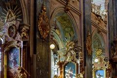 利沃夫州,乌克兰- 2017年10月16日:圣乔治的大教堂的内部是乌克兰希腊人天主教 库存图片
