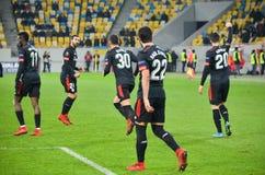利沃夫州,乌克兰- 2017年12月07日:毕尔巴鄂竞技队球员著名人士 免版税库存照片
