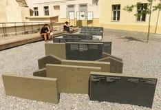 利沃夫州,乌克兰- 2017年7月9日:犹太教堂金黄的罗斯废墟  库存照片