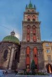 利沃夫州,乌克兰- 2016年9月08日:利沃夫州市和教会 免版税库存照片
