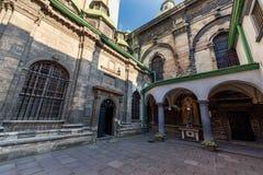 利沃夫州,乌克兰- 2016年11月09日:利沃夫州教会后院 免版税库存图片