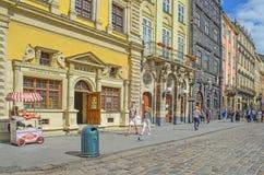 利沃夫州,乌克兰- 2017年7月14日:利沃夫州都市风景  库存照片
