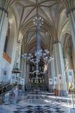 利沃夫州,乌克兰- 2016年9月12日:有圣Olha和伊丽莎白内部教会的利沃夫州市  库存图片