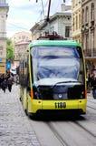 利沃夫州,乌克兰- 2015年5月03日:电子电车电子corporati 库存图片
