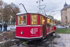 利沃夫州,乌克兰- 2015年10月18日:知名的咖啡店 图库摄影