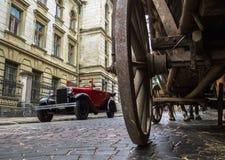 利沃夫州,乌克兰- 2017年6月27日:苏联汽车30-xx岁月加沙 库存图片