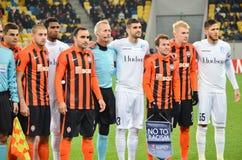 利沃夫州,乌克兰- 10月20 :介入行动球员是没有 库存图片
