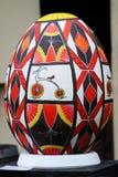 利沃夫州,乌克兰- 4月04 :在节日o的大假复活节彩蛋 库存图片