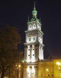利沃夫州:Dormition教会, Korniakt塔 库存图片