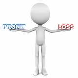 利润与损失 免版税图库摄影