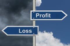 利润与损失 库存照片