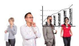 利润增长概念 库存照片