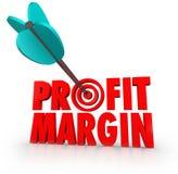 利润率箭头在目标竞争的金钱 免版税库存图片