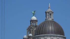 利物浦与蓝天4K的肝脏大厦 股票录像