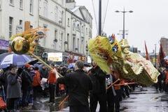 利物浦农历新年街游行 库存照片