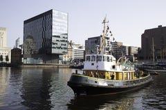 利物浦在阿尔伯特船坞利物浦根据猛拉Brocklebank 库存照片