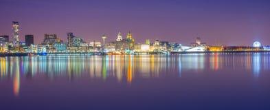 利物浦地平线 免版税图库摄影