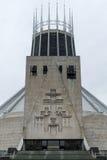 利物浦大城市大教堂门面 免版税库存照片