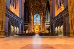 利物浦大教堂教堂中殿 免版税库存图片