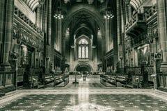 利物浦大教堂教堂中殿A 库存图片