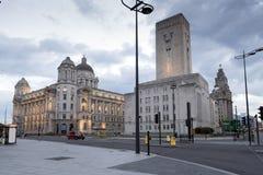 利物浦市中心 免版税库存照片