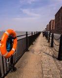 利物浦河梅尔塞散步 库存照片