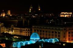 利物浦码头头在晚上 库存图片