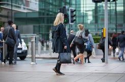 利物浦街道与许多的火车站人 伦敦 免版税库存照片