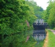 利物浦运河周期道路的利兹 免版税库存照片