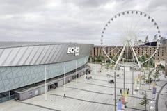 利物浦都市风景-阿尔伯特船坞 免版税图库摄影