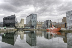 利物浦阿尔伯特船坞-反射 免版税库存图片