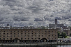 利物浦阿尔伯特船坞-饶恕的大教堂 免版税库存图片