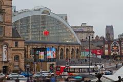 利物浦2016年1月16日 石灰街道驻地,主要路轨 免版税库存照片