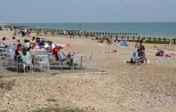利特尔汉普顿海滩 苏克塞斯 英国 库存照片