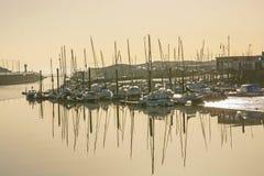 利特尔汉普顿的,苏克塞斯,英国小游艇船坞 免版税图库摄影