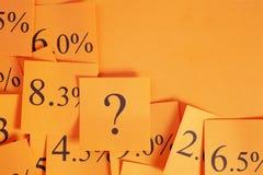 利率概念 库存图片