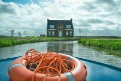 利瑟,荷兰- 2017年4月22日:河岸的议院 vi 免版税图库摄影