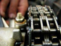 利用链条传送动力的装备 免版税库存照片