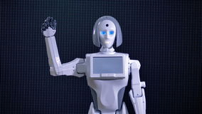 利用仿生学的机器人招呼,欢迎摇它的手 股票视频