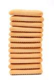 利益撒盐饼干苏打饼干。 库存照片