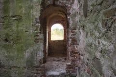 利福尼亚顺序城堡的内部andexterior dietails被建立了15世纪中 包斯卡拉脱维亚 图库摄影