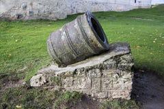 利福尼亚顺序城堡的内部andexterior dietails被建立了15世纪中 包斯卡拉脱维亚 免版税图库摄影