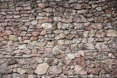 利福尼亚顺序城堡的老砖纹理被建立了15世纪中 包斯卡拉脱维亚 库存照片