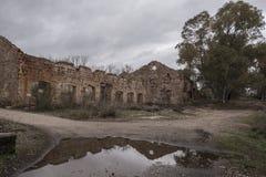 利纳雷斯,西班牙-行军3日2018年:在利纳雷斯附近的采矿开发 图库摄影