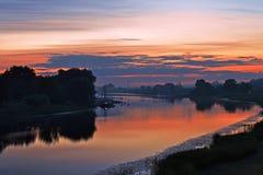 利耶卢佩河 库存图片