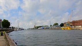 利耶帕亚港口,拉脱维亚 免版税库存图片